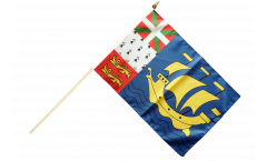 Saint Pierre and Miquelon Hand Waving Flag - 12 x 18 inch