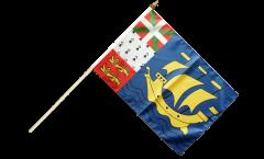 Saint Pierre and Miquelon Hand Waving Flag - 12 x 18 inch