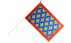 France Sarthe Hand Waving Flag - 12 x 18 inch