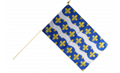 France Seine-et-Marne Hand Waving Flag - 12 x 18 inch