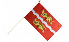 France Seine-Maritime Hand Waving Flag - 12 x 18 inch