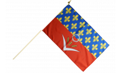 France Seine-Saint-Denis Hand Waving Flag - 12 x 18 inch