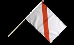 France Strasbourg Hand Waving Flag - 12 x 18 inch