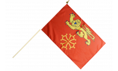 France Tarn-et-Garonne Hand Waving Flag - 12 x 18 inch
