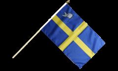 France Toulon Hand Waving Flag - 12 x 18 inch
