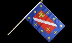 France Val-d'Oise Hand Waving Flag - 12 x 18 inch