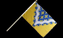 France Val-de-Marne Hand Waving Flag - 12 x 18 inch