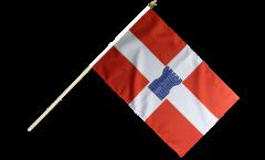 France Valence Hand Waving Flag - 12 x 18 inch