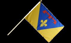 France Var Hand Waving Flag - 12 x 18 inch