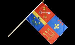 France Vaucluse Hand Waving Flag - 12 x 18 inch