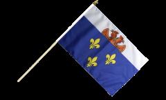 France Versailles Hand Waving Flag - 12 x 18 inch