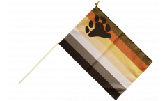 Gay Pride Bear Hand Waving Flag