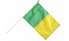 green-yellow Hand Waving Flag - 12 x 18 inch