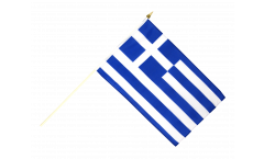 Greece Hand Waving Flag - 12 x 18 inch