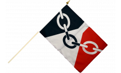 Great Britain Black Country Hand Waving Flag - 12 x 18 inch