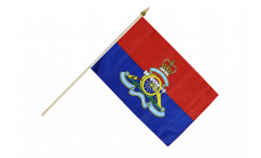 Great Britain British Army Royal Artillery Hand Waving Flag - 12 x 18 inch