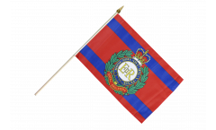 Great Britain British Army Royal Engineers Hand Waving Flag - 12 x 18 inch