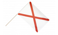 Great Britain St. Patrick cross Hand Waving Flag - 2 x 3 ft.