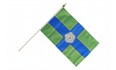Great Britain Yorkshire North Riding Hand Waving Flag - 12 x 18 inch