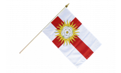 Great Britain Yorkshire West Riding Hand Waving Flag - 12 x 18 inch