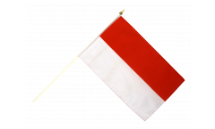 Indonesia Hand Waving Flag - 12 x 18 inch