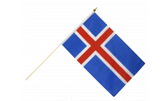 Iceland Hand Waving Flag - 12 x 18 inch