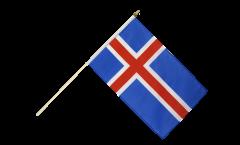 Iceland Hand Waving Flag - 12 x 18 inch
