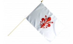 Italy Florence Hand Waving Flag - 12 x 18 inch