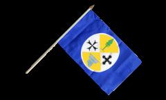 Italy Calabria Hand Waving Flag - 12 x 18 inch