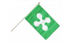 Italy Lombardia Hand Waving Flag - 12 x 18 inch