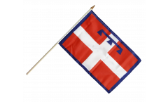 Italy Piedmont Hand Waving Flag - 12 x 18 inch