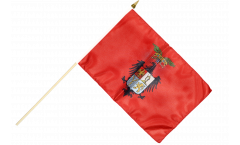 Italy Province of Palermo Hand Waving Flag - 12 x 18 inch