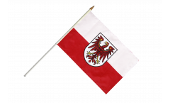 Italy South Tyrol Hand Waving Flag - 12 x 18 inch