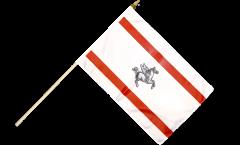 Italy Tuscany Hand Waving Flag - 12 x 18 inch