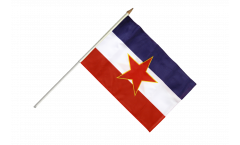 Yugoslavia old Hand Waving Flag - 12 x 18 inch