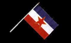 Yugoslavia old Hand Waving Flag