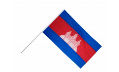 Cambodia Hand Waving Flag