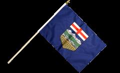 Canada Alberta Hand Waving Flag - 12 x 18 inch