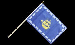 Canada Quebec City Hand Waving Flag - 12 x 18 inch