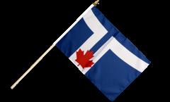 Canada City of Toronto Hand Waving Flag - 12 x 18 inch