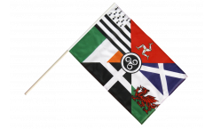 Celtic nations Hand Waving Flag