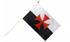 Crusades Hand Waving Flag - 12 x 18 inch
