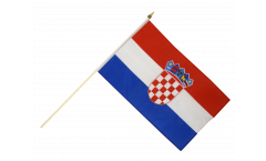 Croatia Hand Waving Flag - 12 x 18 inch