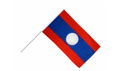 Laos Hand Waving Flag