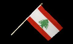 Lebanon Hand Waving Flag - 12 x 18 inch
