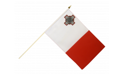 Malta Hand Waving Flag - 12 x 18 inch