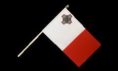 Malta Hand Waving Flag - 12 x 18 inch