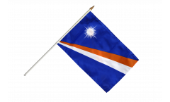 Marshall Islands Hand Waving Flag