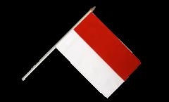 Monaco Hand Waving Flag - 12 x 18 inch