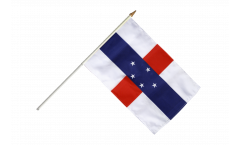 Netherlands Antilles Hand Waving Flag - 12 x 18 inch